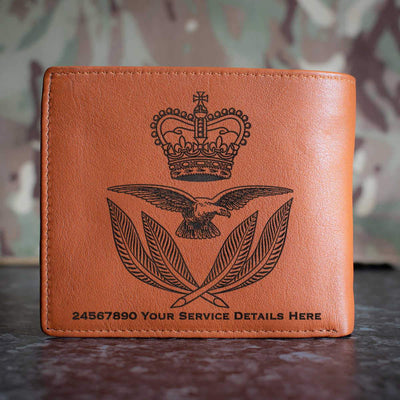 RAF Warrrant Office Cap Badge Leather Wallet