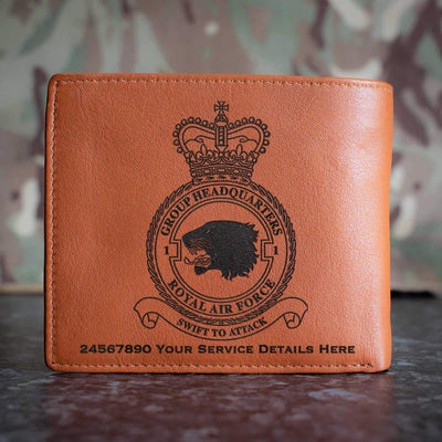RAF 1 Group Headquarters Leather Wallet