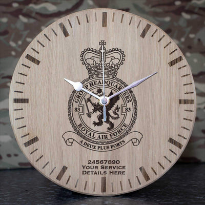 RAF 83 Group Headquarters Oak Clock