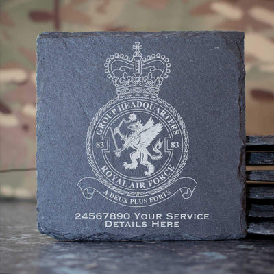 RAF 83 Group Headquarters Slate Coaster