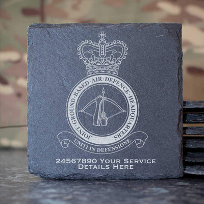 RAF Joint Ground Based Air Defence Headquarters Slate Coaster