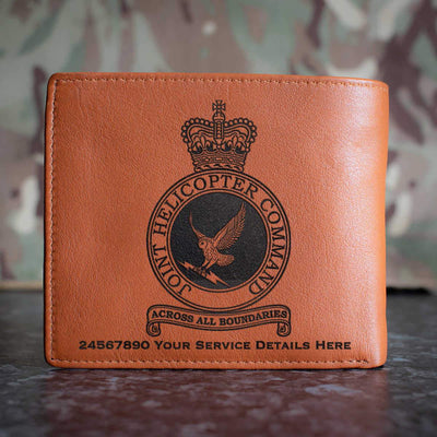 RAF Joint Helicopter Command Crest Leather Wallet