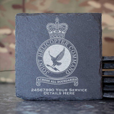 RAF Joint Helicopter Command Crest Slate Coaster