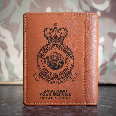 RAF No1 (Tactical) Police Squadron Credit Card Wallet