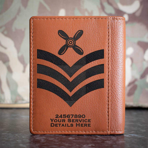 RAF Chief Technician Rank Slide Credit Card Wallet