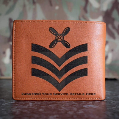 RAF Chief Technician Rank Slide Leather Wallet