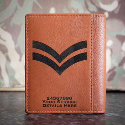 RAF Corporal Rank Slide Credit Card Wallet