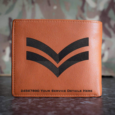 RAF Corporal Rank Slide Leather Wallet
