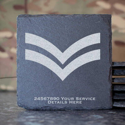 RAF Corporal Rank Slide Slate Coaster
