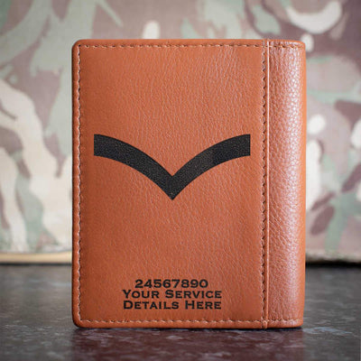 RAF Lance Corporal Rank Slide Credit Card Wallet