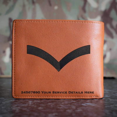 RAF Lance Corporal Rank Slide Leather Wallet
