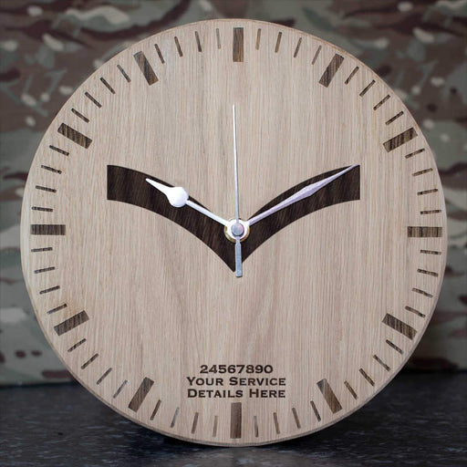 RAF Lance Corporal Rank Slide Oak Clock
