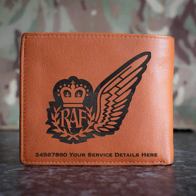 RAF Navigator Brevet Leather Wallet