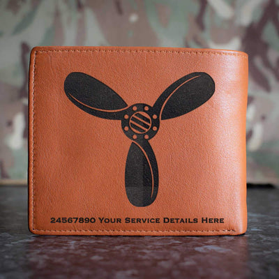 RAF SAC Rank Slide Leather Wallet
