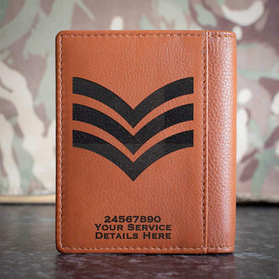 RAF Sergeant Rank Slide Credit Card Wallet
