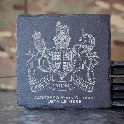 Warrant Officer Badge Slate Coaster