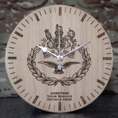 Warrant Officer Master Air Crew Badge Oak Clock