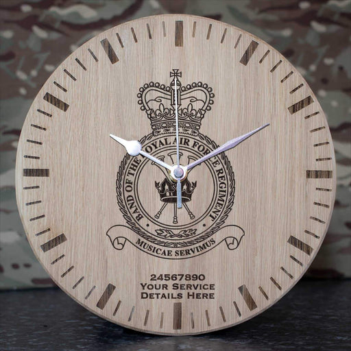 RAF Band of the RAF Regiment Oak Clock