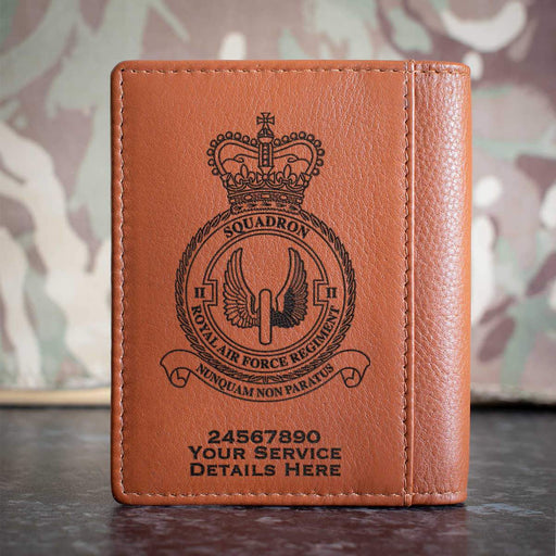 RAF Regiment 2 Squadron Credit Card Wallet