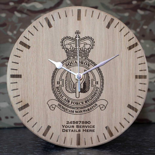 RAF Regiment 2 Squadron Oak Clock