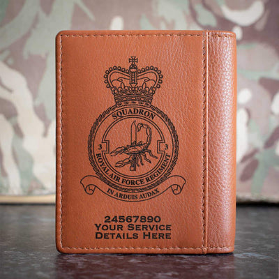 RAF Regiment 3 Squadron Credit Card Wallet
