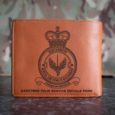 RAF Regiment 20 Squadron Leather Wallet