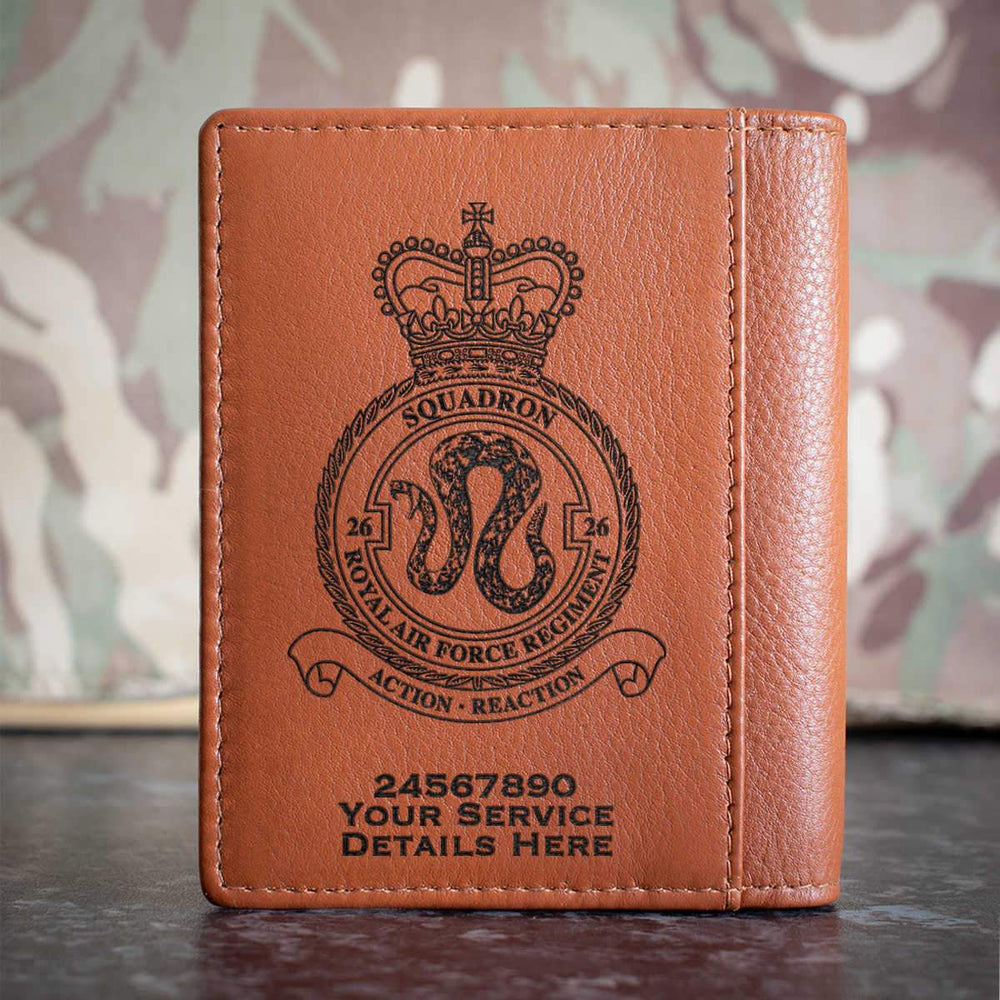 RAF Regiment 26 Squadron Credit Card Wallet