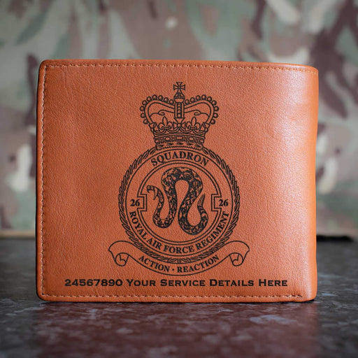 RAF Regiment 26 Squadron Leather Wallet