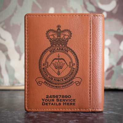 RAF Regiment 27 Squadron Credit Card Wallet