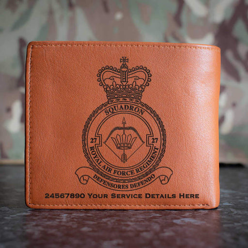 RAF Regiment 27 Squadron Leather Wallet