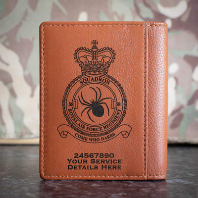 RAF Regiment 58 Squadron Credit Card Wallet