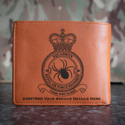 RAF Regiment 58 Squadron Leather Wallet