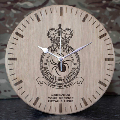 RAF Regiment 58 Squadron Oak Clock