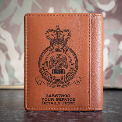 RAF Regiment 63 Squadron Credit Card Wallet