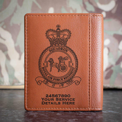 RAF Regiment No1 Squadron Credit Card Wallet