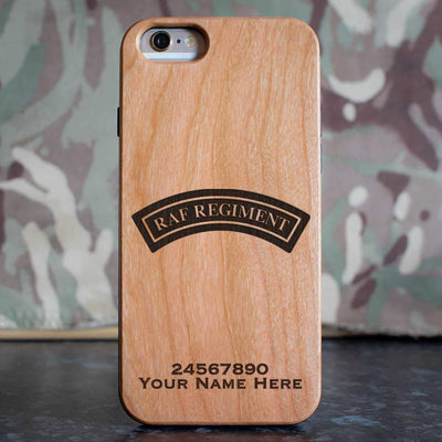 RAF Regiment Shoulder Badge (Black) Phone Case