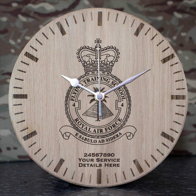 RAF 4 Flying Training School Oak Clock