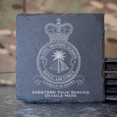 RAF 4 Flying Training School Slate Coaster