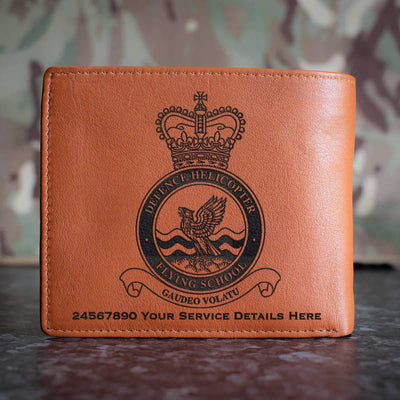 RAF Defence Helicopter Flying School Leather Wallet