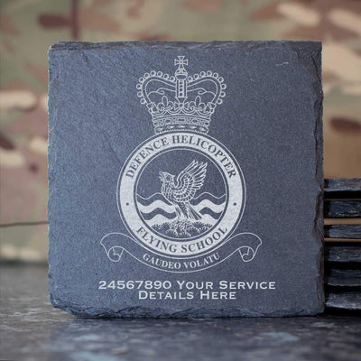 RAF Defence Helicopter Flying School Slate Coaster