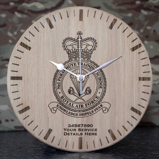 RAF No1 Parachute Training School Oak Clock