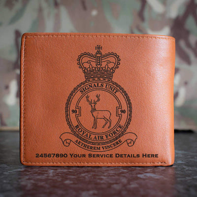 RAF 90 Signals Unit Leather Wallet