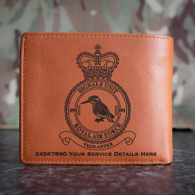 RAF 591 Signals Unit Leather Wallet