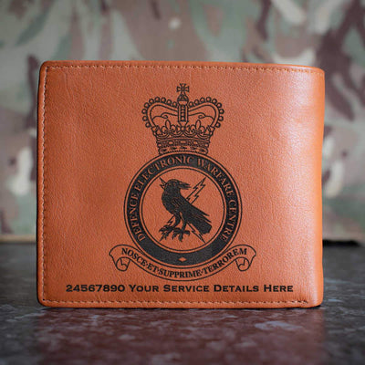 RAF Defence Electronic Warfare Centre Leather Wallet