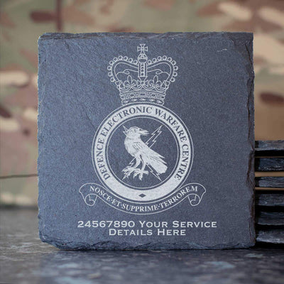 RAF Defence Electronic Warfare Centre Slate Coaster