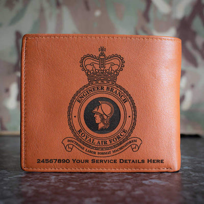 RAF Engineer Branch Leather Wallet