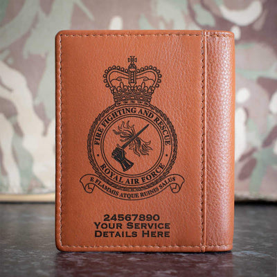 RAF Fire Fighting and Rescue Credit Card Wallet