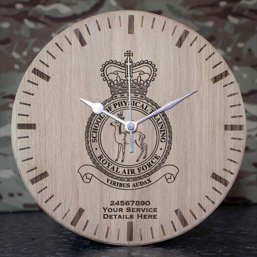 RAF School of Physical Training Oak Clock