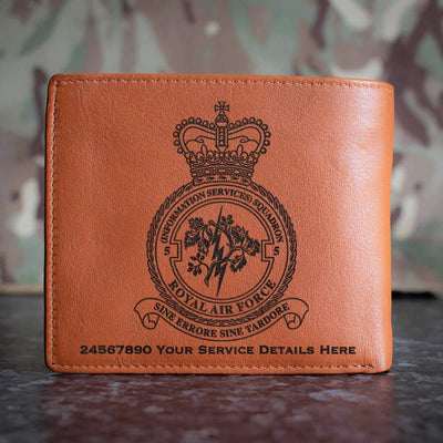 RAF 5 (Information Services) Squadron Leather Wallet