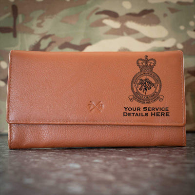 RAF 5 (Information Services) Squadron Leather Purse